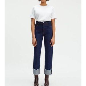 Levi's Ribcage Straight Selvedge Jeans